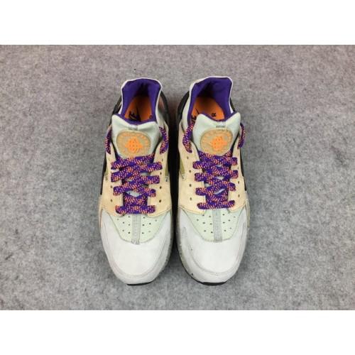 Men's Nike Air Huarache Run Premium 704830-200 Black Grey