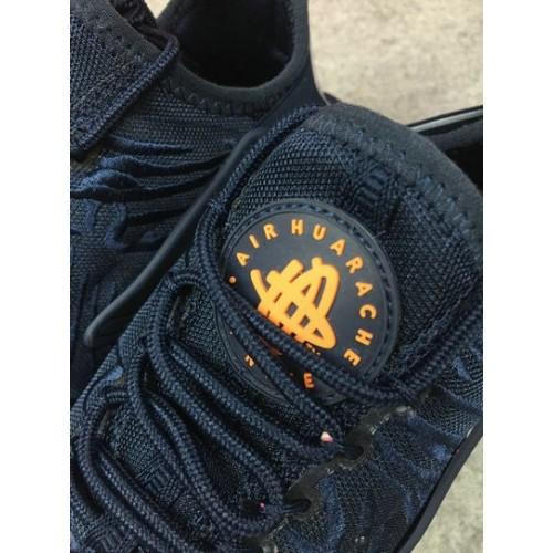 Men's Nike Air Huarache Run Ultra 859511-401 Navy Blue White Black