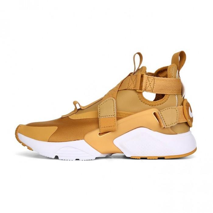 Men's Nike Air Huarache Run iD Gold White