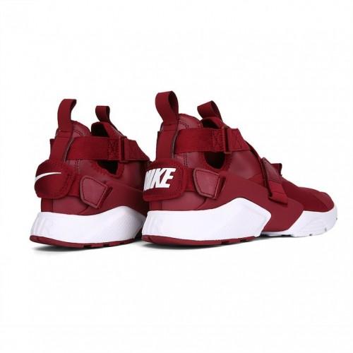 Men's Nike Air Huarache Run iD Wine Red White