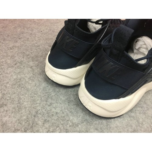 Men's Nike Air Huarache Ultra Leather Navy Blue Black White