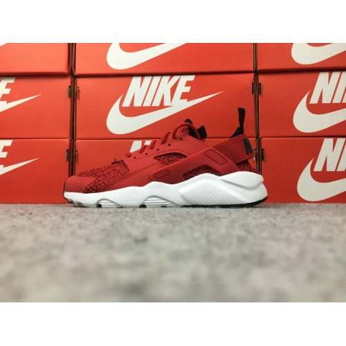 Men's Nike Air Huarache Ultra AH6758-600 White Red Black