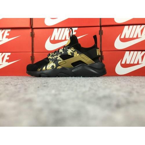 Men's Nike Air Huarache Ultra ID 829669-661 Gold Black