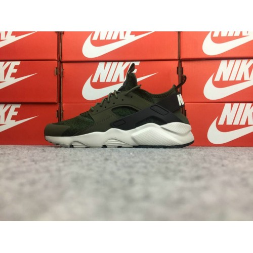 Men's Nike Air Huarache Ultra Run ID Army Green Black White
