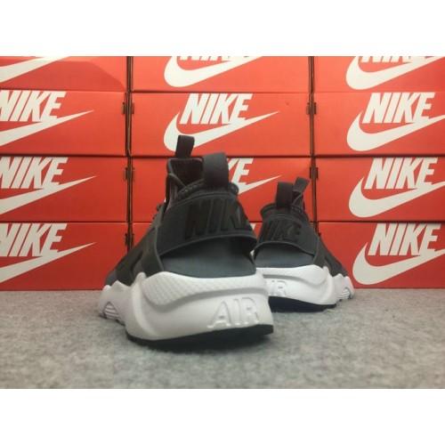 Men's Nike Air Huarache Ultra Run ID 762142-011 Dark Grey White