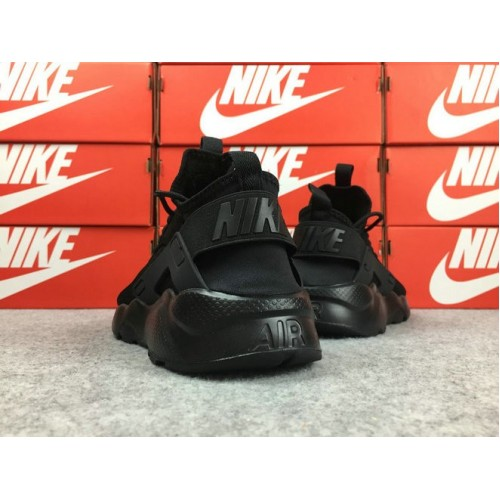 Men's Nike Air Huarache Ultra Run ID Flyknit All Black