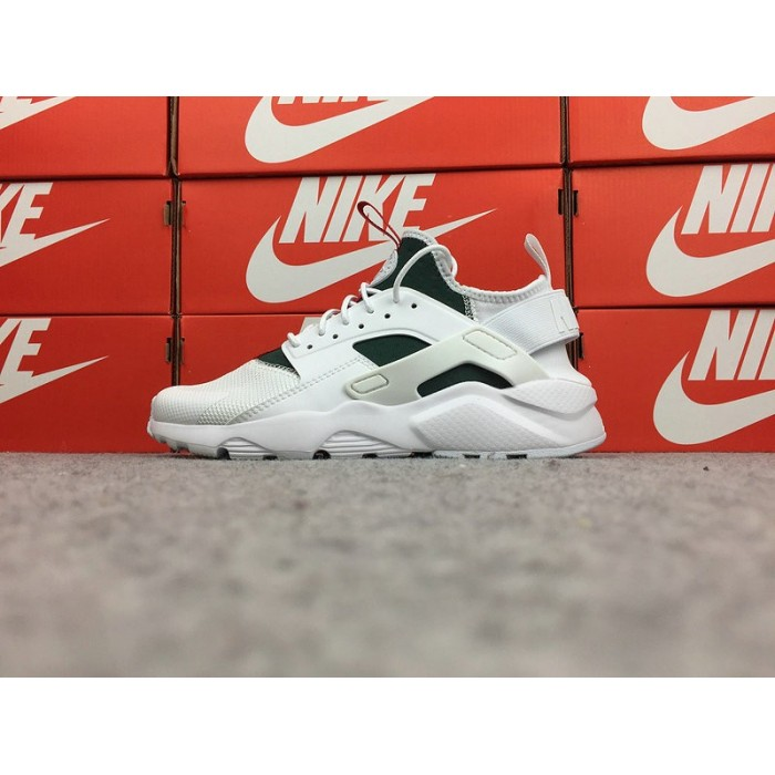 Men's Nike Air Huarache Ultra Run ID In White Green