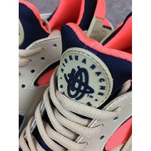 Women's Nike Air Huarache 634835-111 Navy Blue Wheat