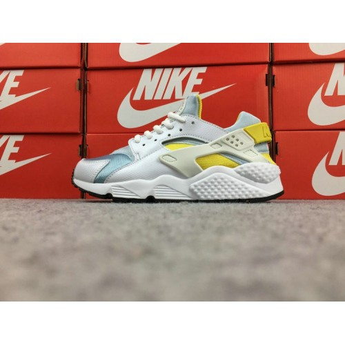 Women's Nike Air Huarache 634835-112 White Blue Yellow