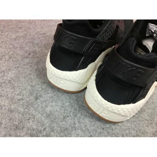 Women's Nike Air Huarache Run PRM 683818-011 White Black