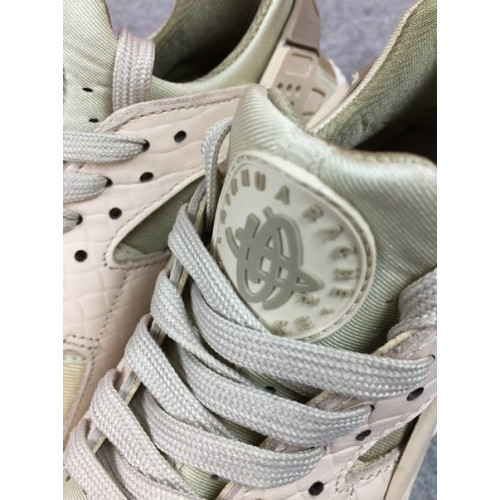 Women's Nike Air Huarache Run PRM 683818-102 Green Pink White