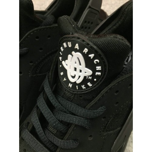 Women's Nike Air Huarache Run TXT 318429-003 Black Grey