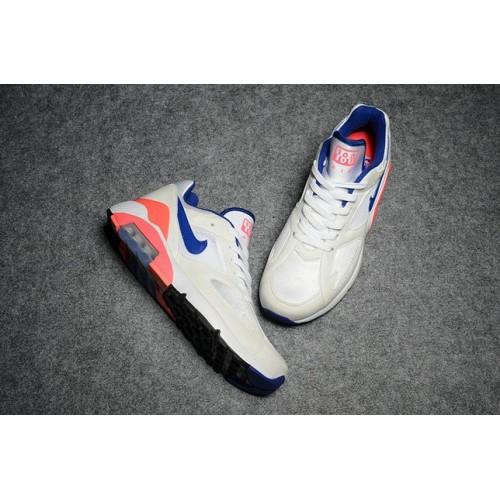 Men's Nike Air Max 180 White Blue Orange Red