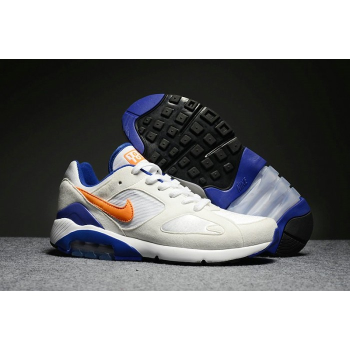 Men's Nike Air Max 180 White Orange Blue