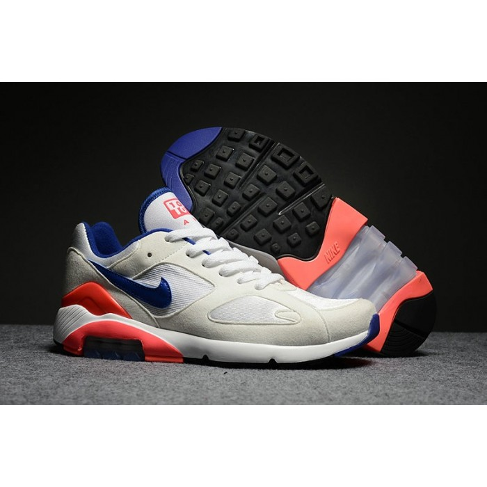 Women's Nike Air Max 180 White Blue Orange