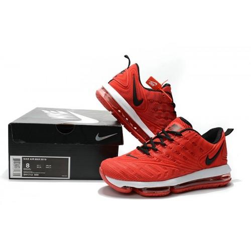 Men's Nike Air Max 2019 Fire Red Black White