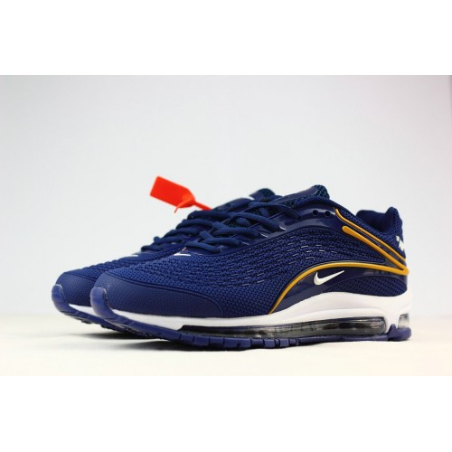 Men's Nike Air Max 2019 Running Shoes Blue Yellow White