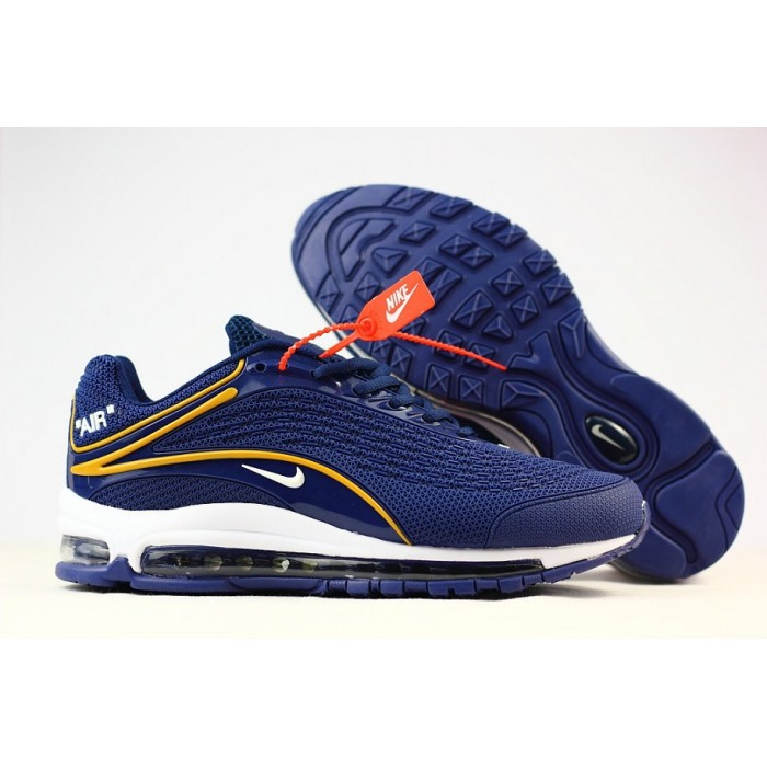 Men's Nike Air Max 2019 Running Shoes Blue Yellow White