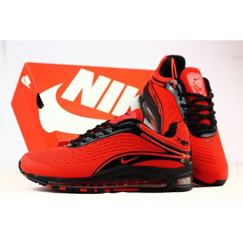 Men's Nike Air Max 2019 Running Shoes Fire Red Black