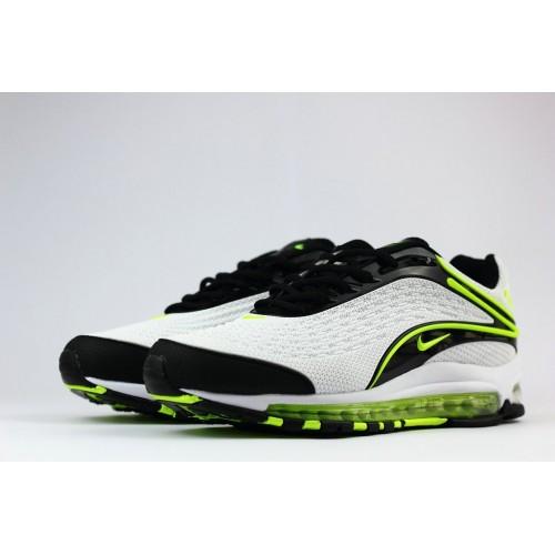 Men's Nike Air Max 2019 Running Shoes Green White Black