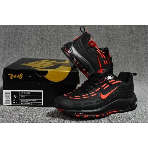 Men's Nike Air Maxs 99 Fire Red Black