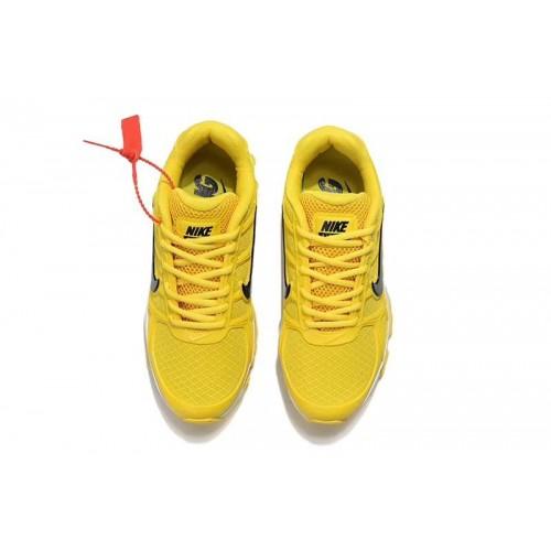 Men's Nike AirMaxs 2019 Yellow Black White