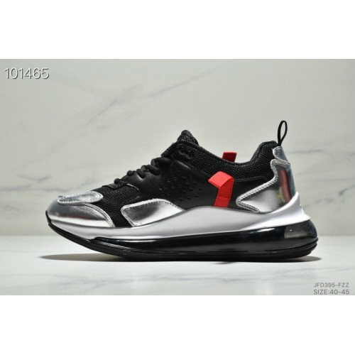 Men's 2019 Nike Air Max 720 3.0 Metallic Silver Black White