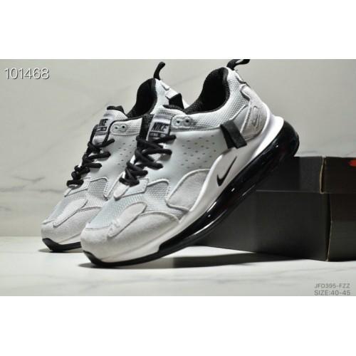 Men's 2019 Nike Air Max 720 3.0 White Grey Black