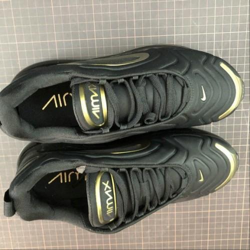 Men's 2019 Nike Air Max 720 Black Metallic Gold AO2924-011
