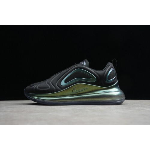 Men's 2019 Nike Air Max 720 Black-Metallic Silver AO2924-010