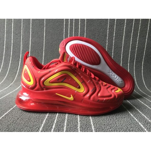 Men's 2019 Nike Air Max 720 Spatter University Red Yellow