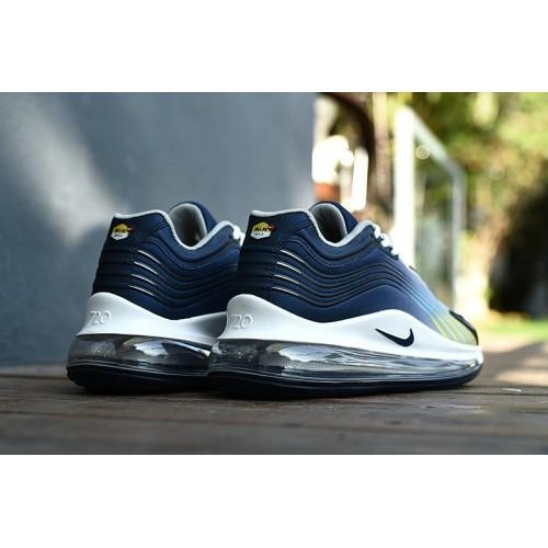 Men's 2019 Nike Air Max 720 Navy Blue Grey White