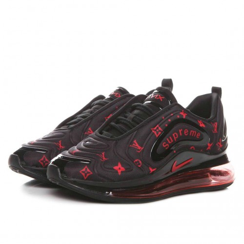 Men's Nike Air Max 720 Supreme Black Fire Red