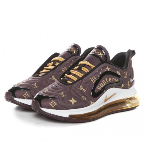 Men's Nike Air Max 720 Supreme Black Gold White Brown
