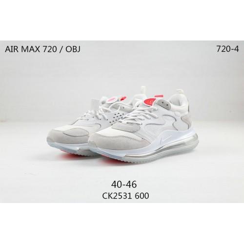 Men's Nike Air Max 720 OBJ Odell Beckham Jr White Light Rose Pink