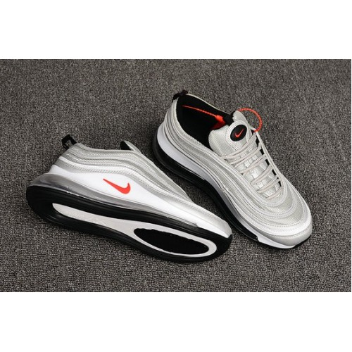 Women's Nike Air Max 720 97 Silver Grey Red
