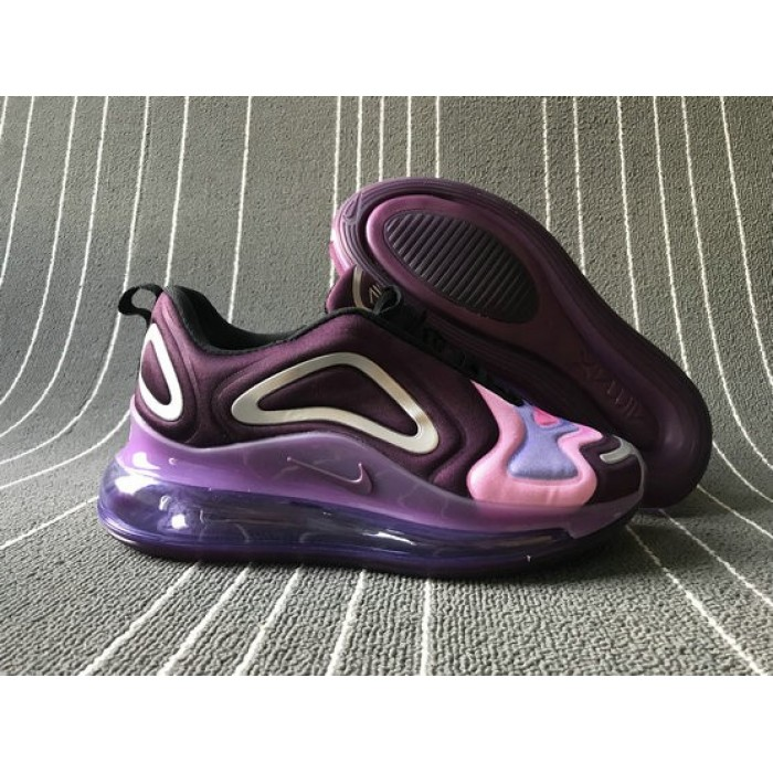 Women's 2019 Nike Air Max 720 Dark Purple Color Lavender
