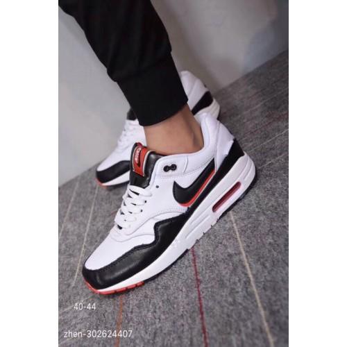 Men's 2019 Nike Air Max 1 87 Black Red White