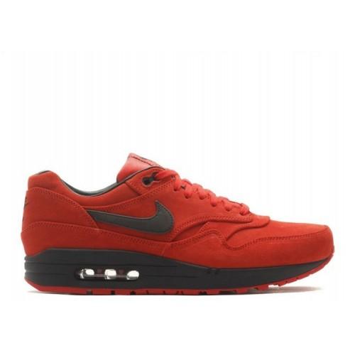 Men's Nike Air Max 1 PRM 512033-610 PIMENTO BLACK-BLACK
