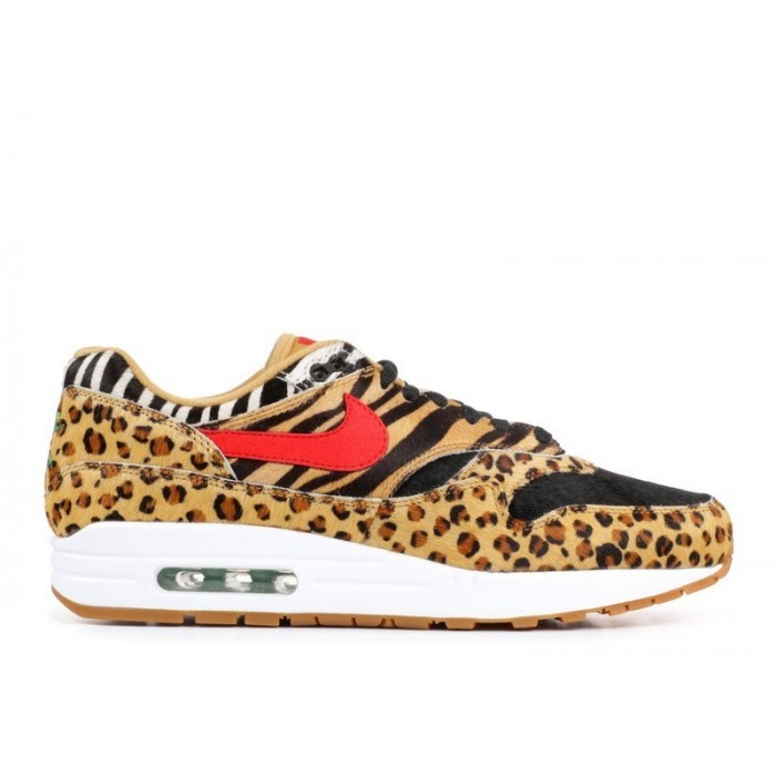Men's Nike Air Max 1 Dlx Animal Pack 2.0 Wheat Sport Red