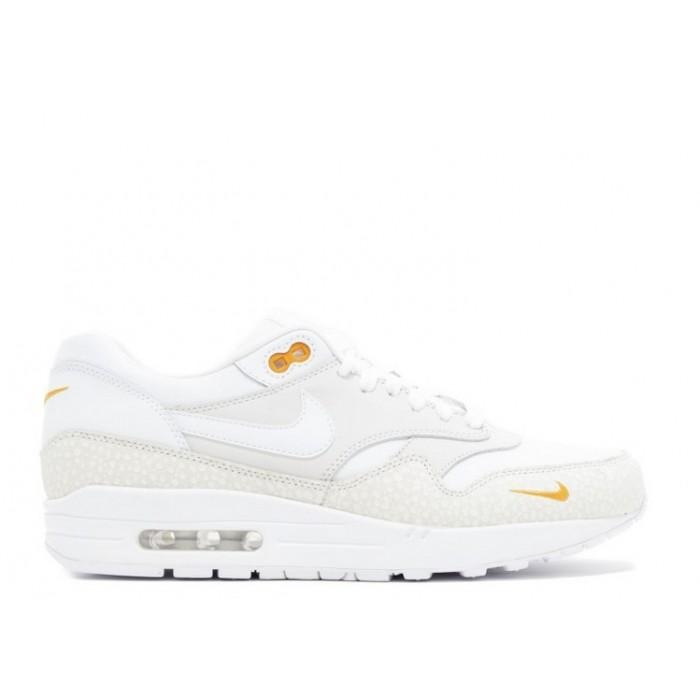 Men's Nike Air Max 1 Permium Safari White White Kumquat