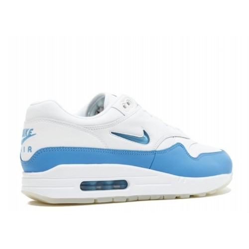 Men's Nike Air Max 1 Premium Sc Jewel 918354-102 White University Blue