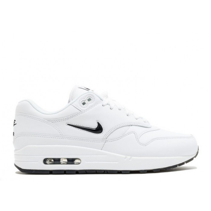 Men's Nike Air Max 1 Premium Sc Jewel 918354-103 White Black