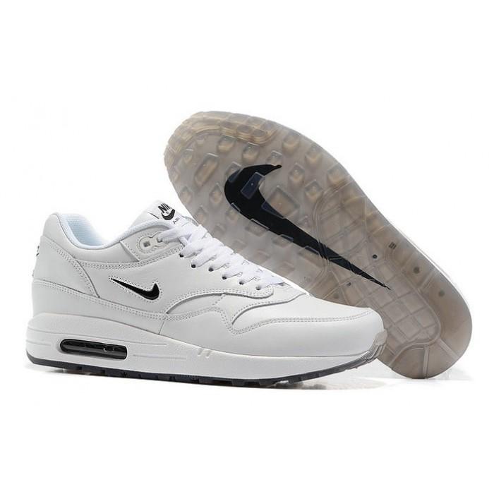Men's Nike Air Max 1 Premium White Navy Blue
