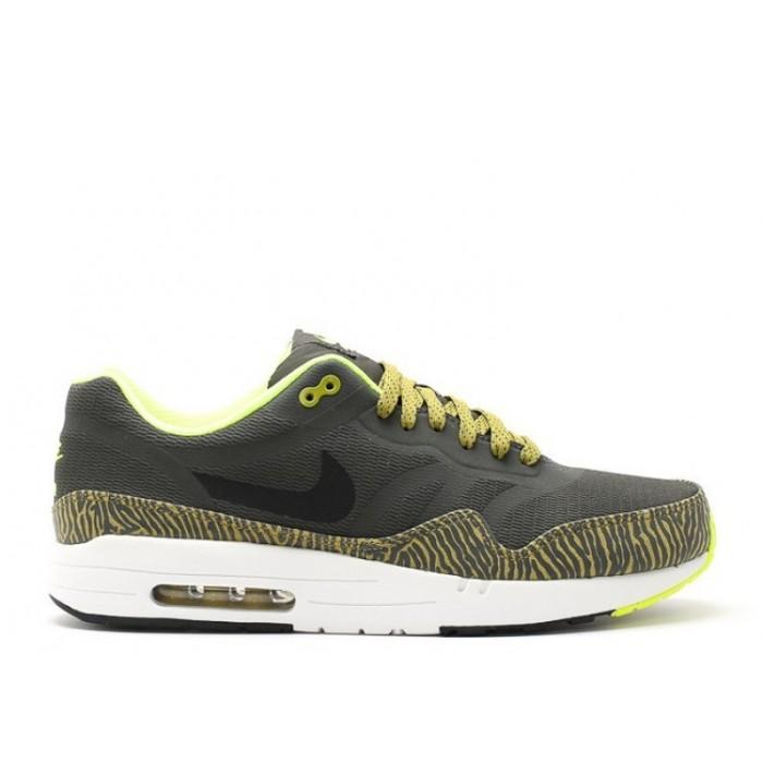 Men's Nike Air Max 1 Prm Tape 599514-007 Newsprint Black