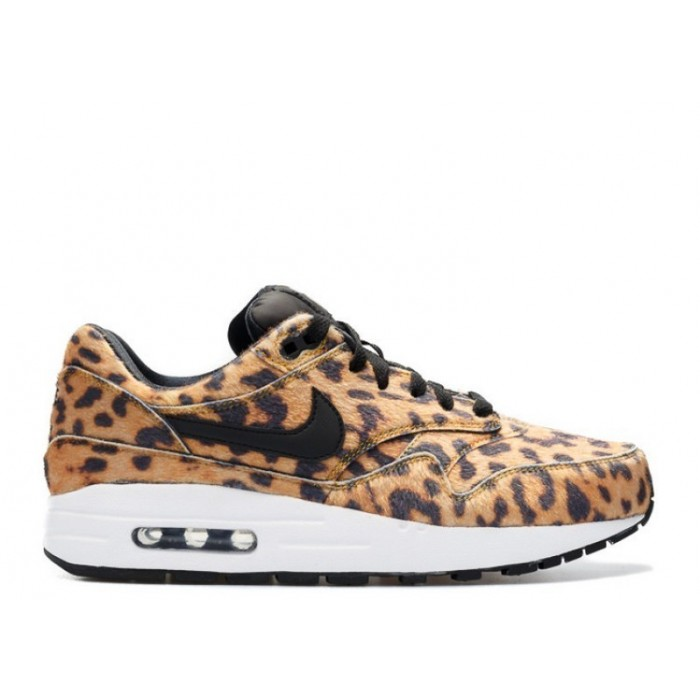 Women's Nike Air Max 1 Qs Gs Leopard University Gold Black-White