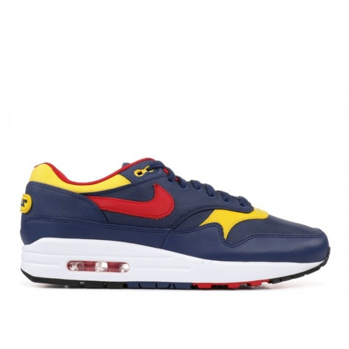 Men's Nike Air Max 1 Snow Beach 875844-403 Obsidian Team Red