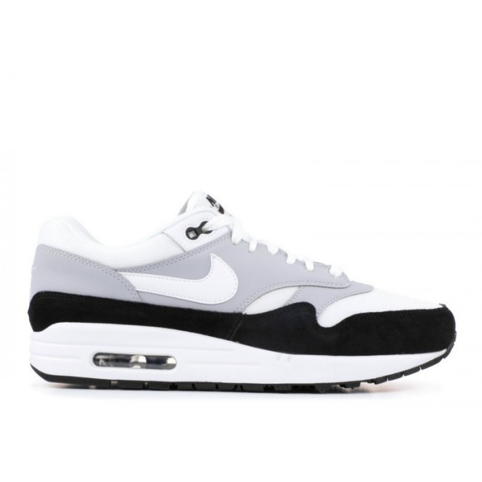Men's Nike Air Max 1 Wolf Grey White Black Ah8145-003