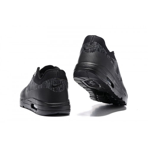 Men's Nike Air Max 87 Black Grey Running Shoes