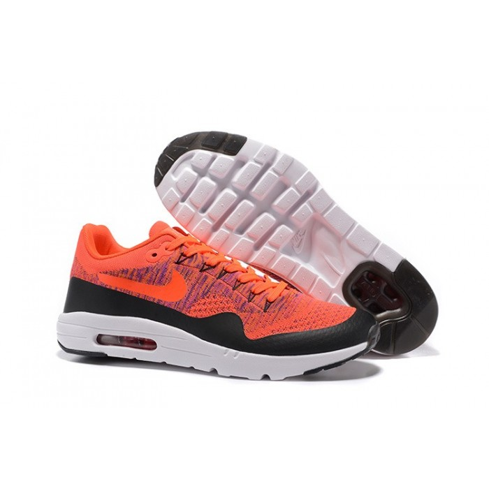 Men's Nike Air Max 87 Orange Black White Running Shoes